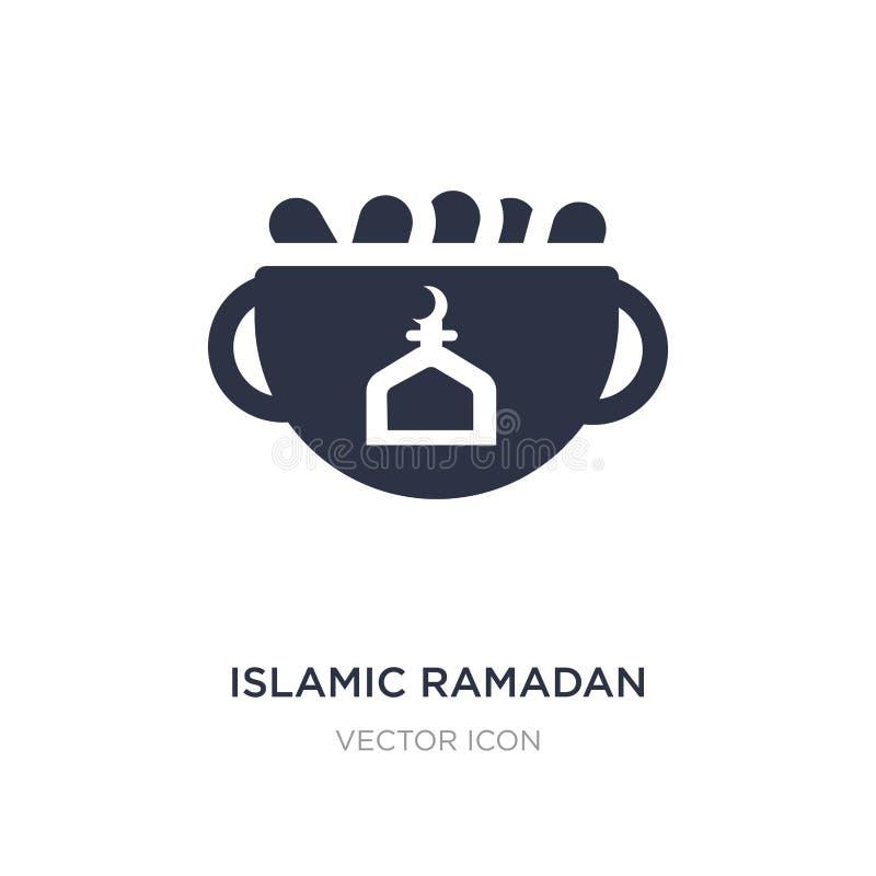 islamische Ramadan-Ikone auf weißem Hintergrund Einfache Elementillustration vom Religionskonzept lizenzfreie abbildung