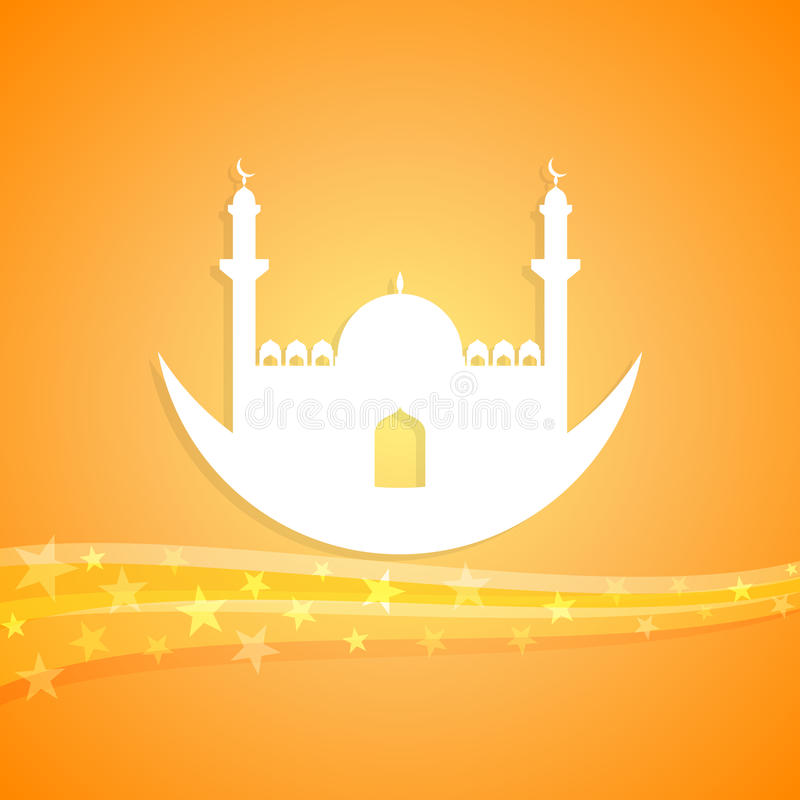 Islamische themenorientierte Illustration vektor abbildung