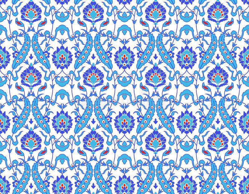 Islamisches Blume Muster auf Weiß lizenzfreie abbildung