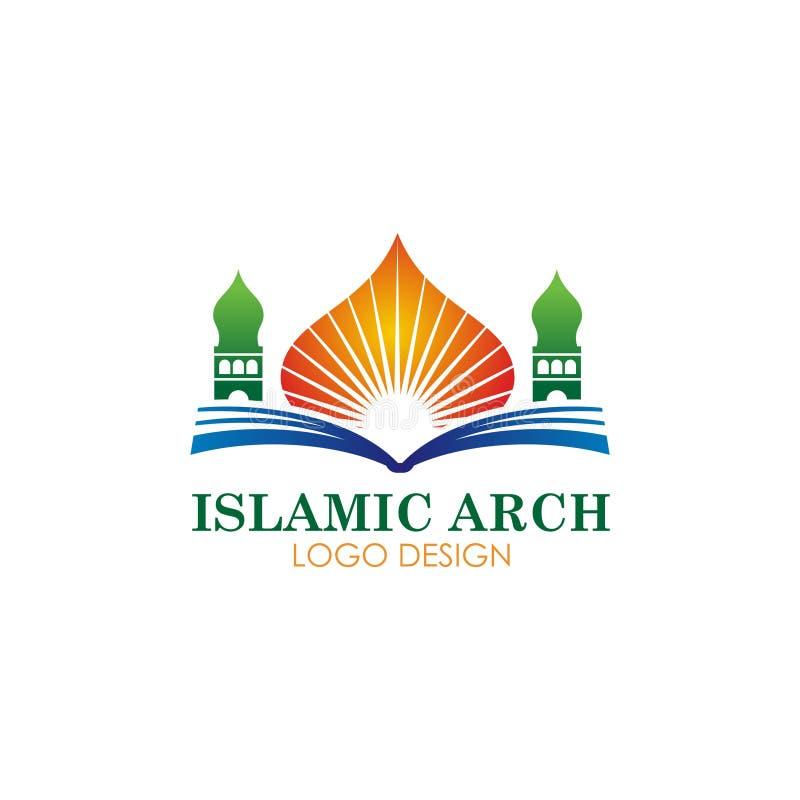 Islamisches Moscheenfirmenzeichen-Vektordesign stock abbildung