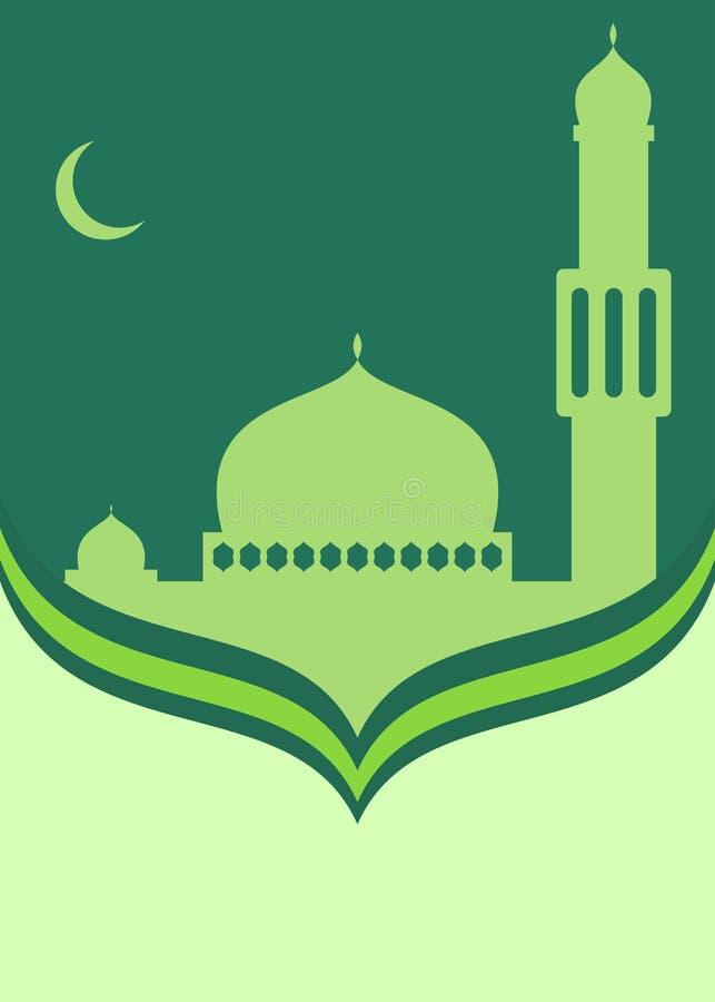 Islamisches themenorientiertes Kartendesign Ramadans lizenzfreie abbildung