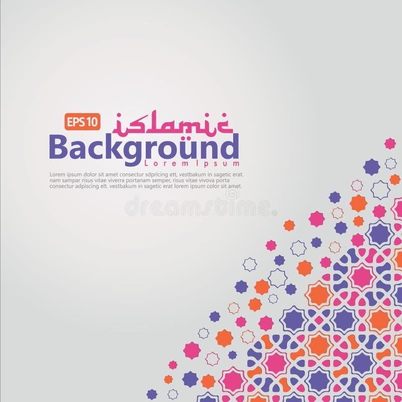 Islamisk bakgrundsmall för ramadan kareem, Ed Mubarak med den islamiska prydnaden stock illustrationer