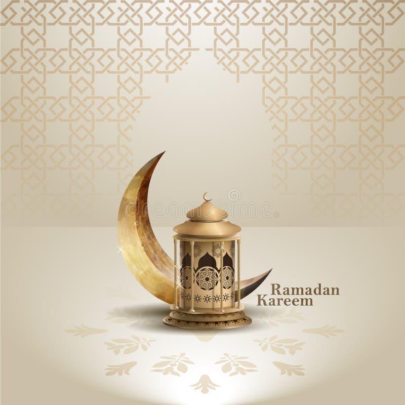 Islamisk design för mall för bakgrund för hälsningramadan kareem stock illustrationer