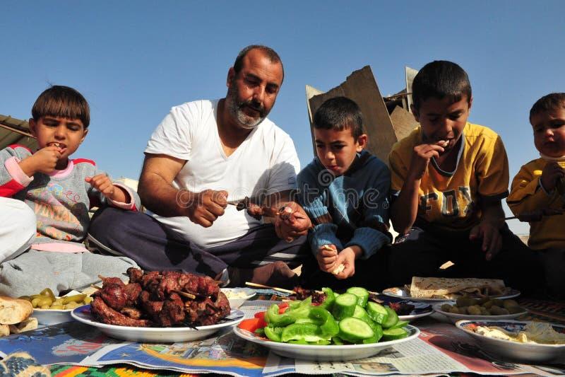 Islamisk ferie - festmåltid av offret royaltyfri foto