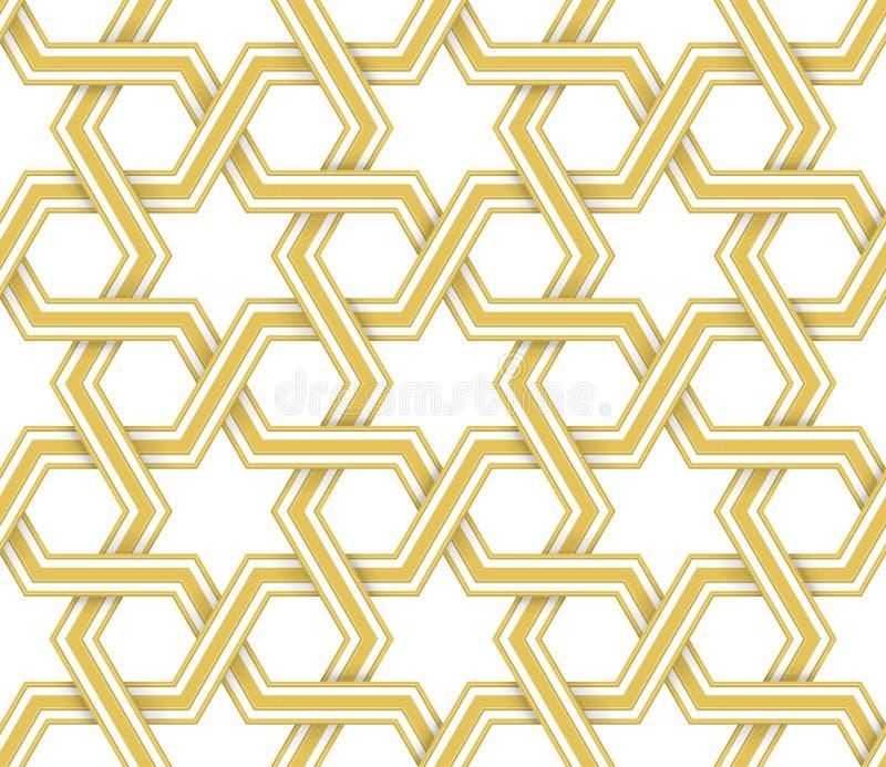 Islamisk geometrisk vektormodell royaltyfri illustrationer