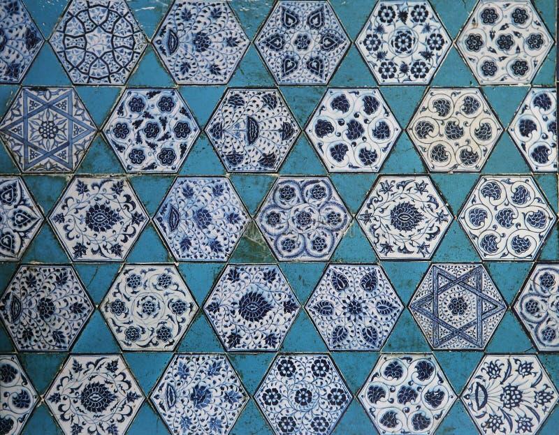 Islamisk keramisk dekor arkivfoton