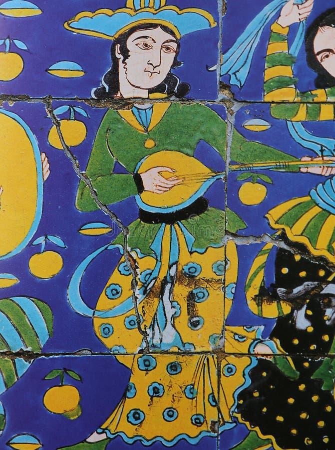 Islamisk keramisk dekor arkivfoto