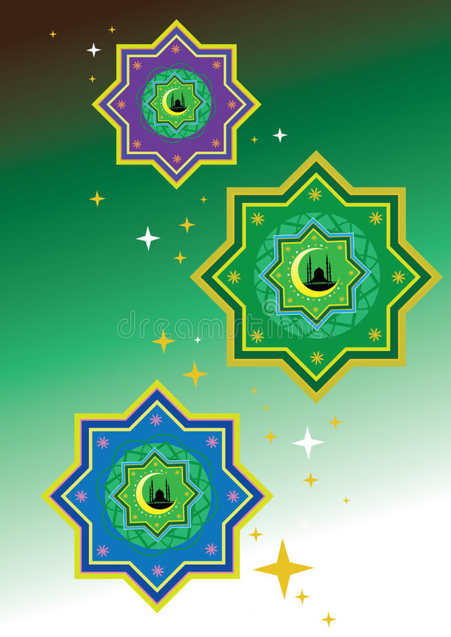 islamisk modell stock illustrationer