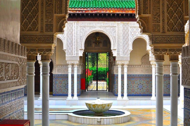 islamisk moroccan paviljong för arkitektur royaltyfri foto