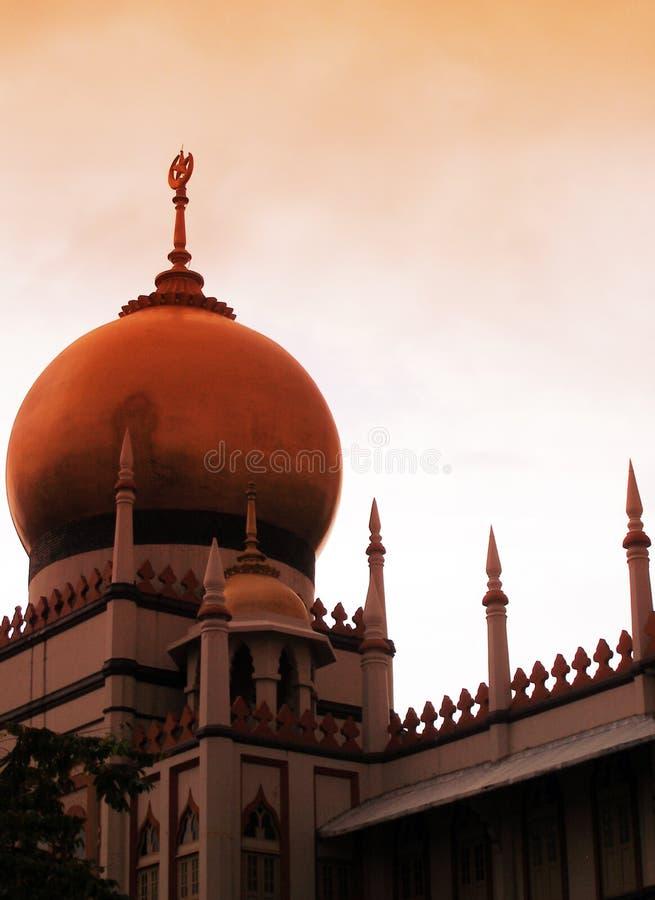 islamisk moské för byggnadsafton royaltyfri bild