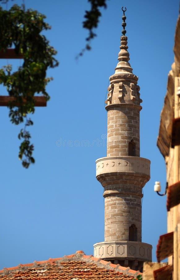 Islamisk påverkan över en katolsk medeltida stad arkivbilder