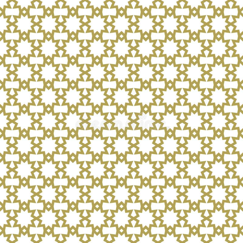 Islamisk sömlös modell Arabisk geometrisk bakgrund Östlig malldesign Traditionell asiatisk repetitiontextur elegant textur royaltyfri illustrationer