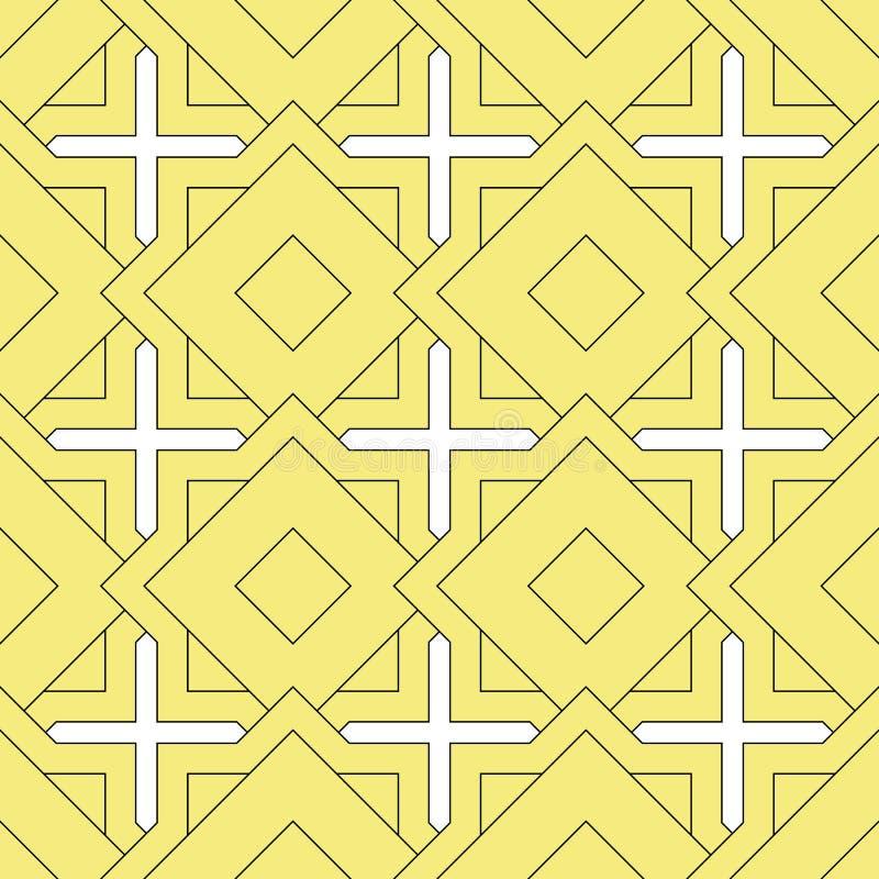 Islamisk sömlös modell Arabisk geometrisk bakgrund Dekorativ design för östlig mall Muslimsk orientalisk tegelplatta Ändlös orien stock illustrationer