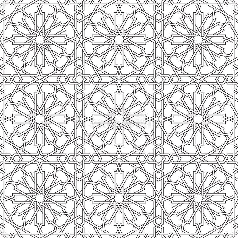 Islamisk sömlös vektor stock illustrationer
