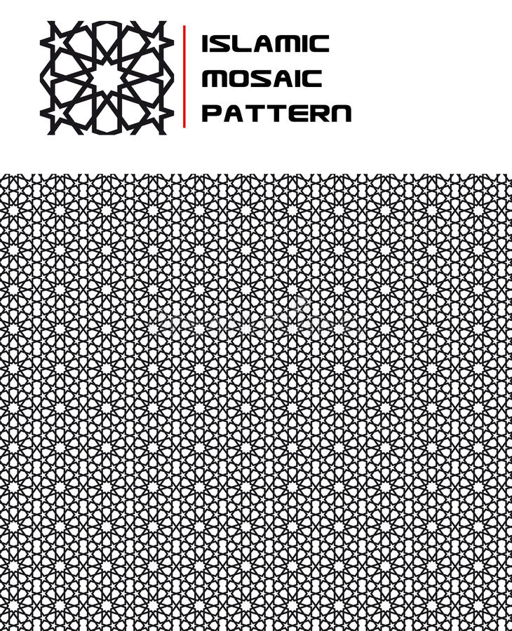 islamisk seamless mosaikmodell stock illustrationer