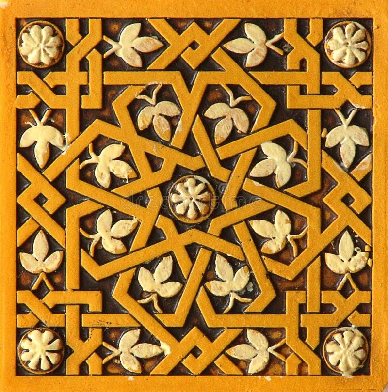 Islamisk tegelplattamodell vektor illustrationer
