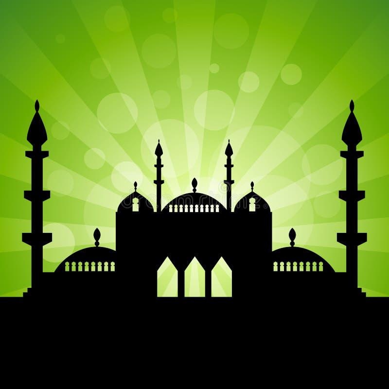 Islamisk temabakgrund stock illustrationer