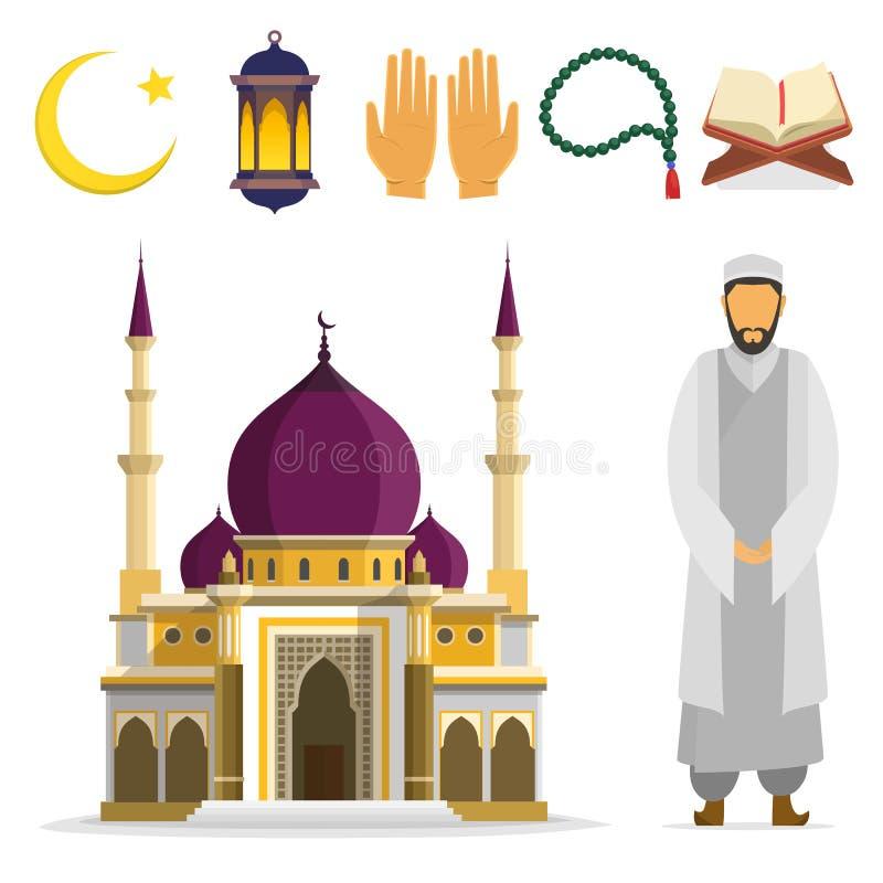 Islamisk uppsättning vektor illustrationer