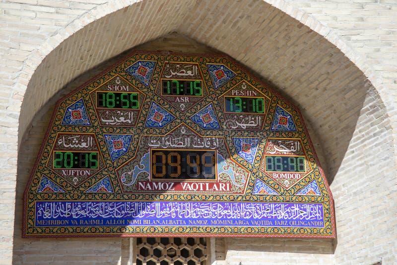 Islamiska böntider på skärm, mausoleum av Bahouddin Nakshban royaltyfria bilder