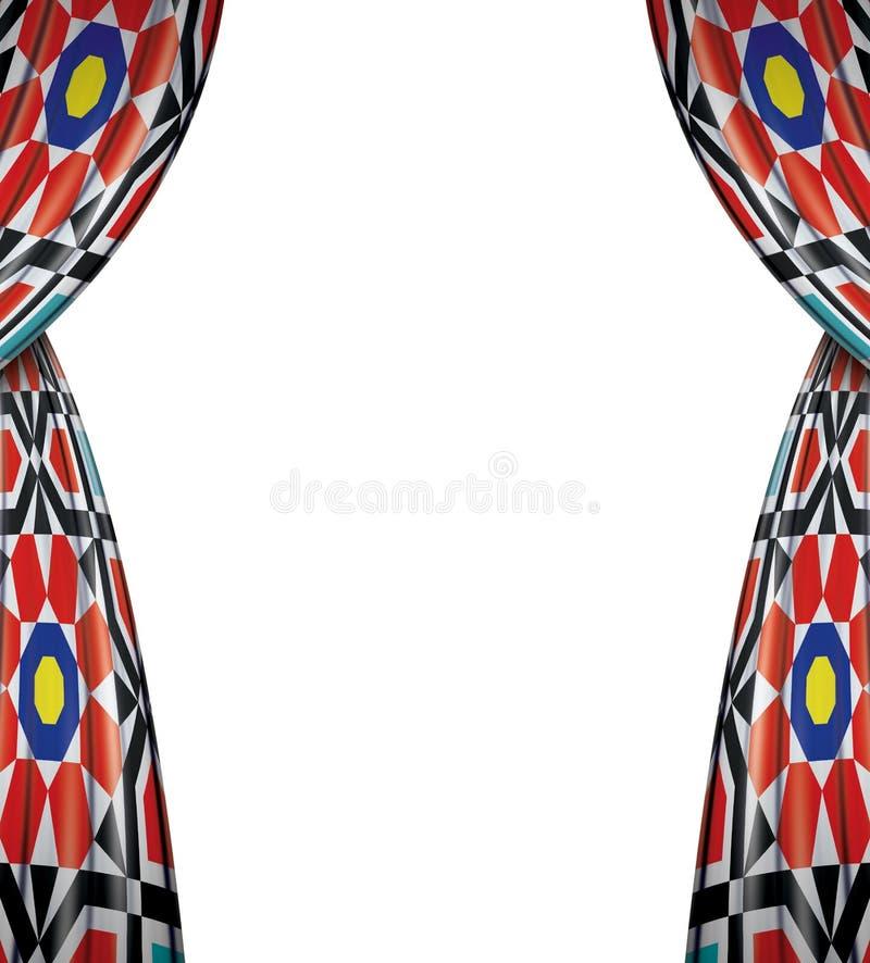 Islamiska festliga Ramadan Curtains royaltyfri illustrationer