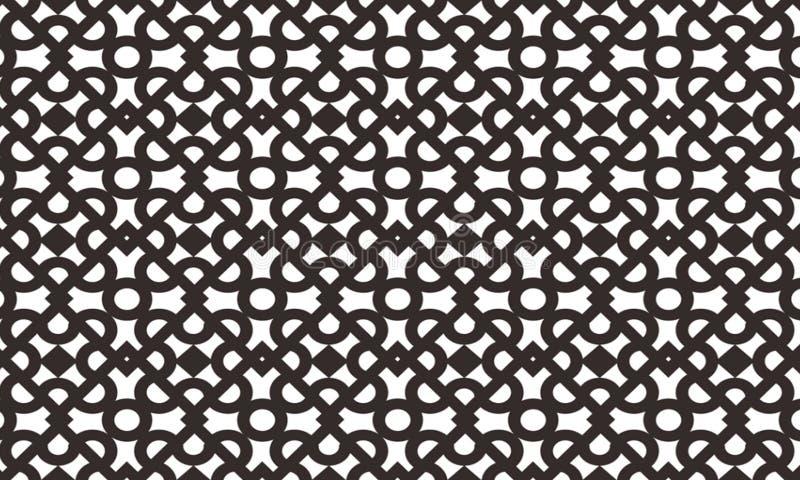 Islamiska fyrkantiga geometriska upprepande modeller är mycket böjliga De har använts ofta i vägggarneringar, fönster, paneler, s stock illustrationer