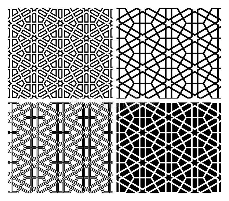 islamiska mosaikmodeller vektor illustrationer