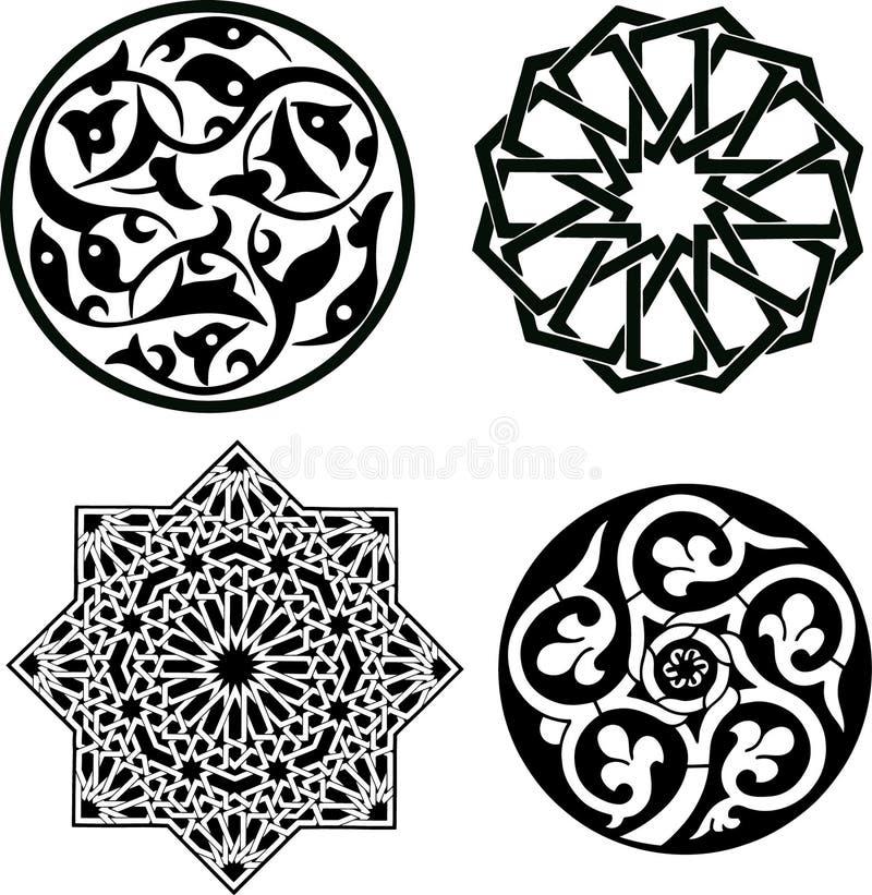 islamiska prydnadar royaltyfri illustrationer