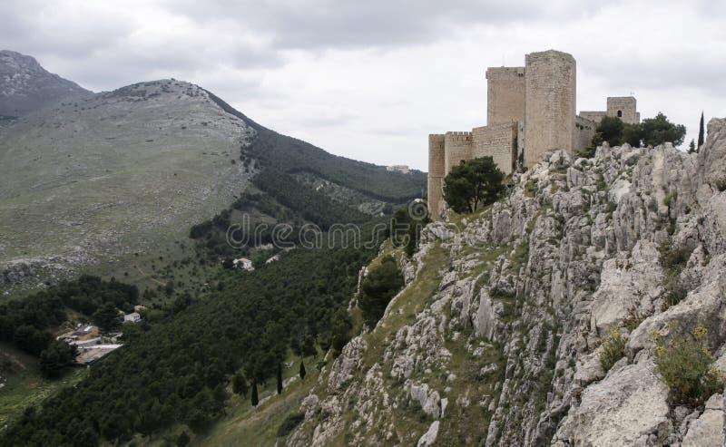 Islamiska slottar i Andalusia fotografering för bildbyråer