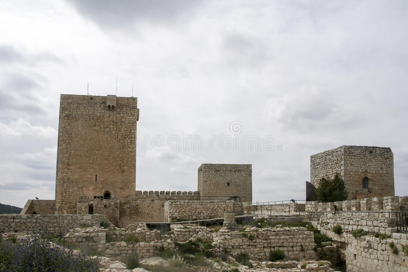 Islamiska slottar i Andalusia royaltyfri foto
