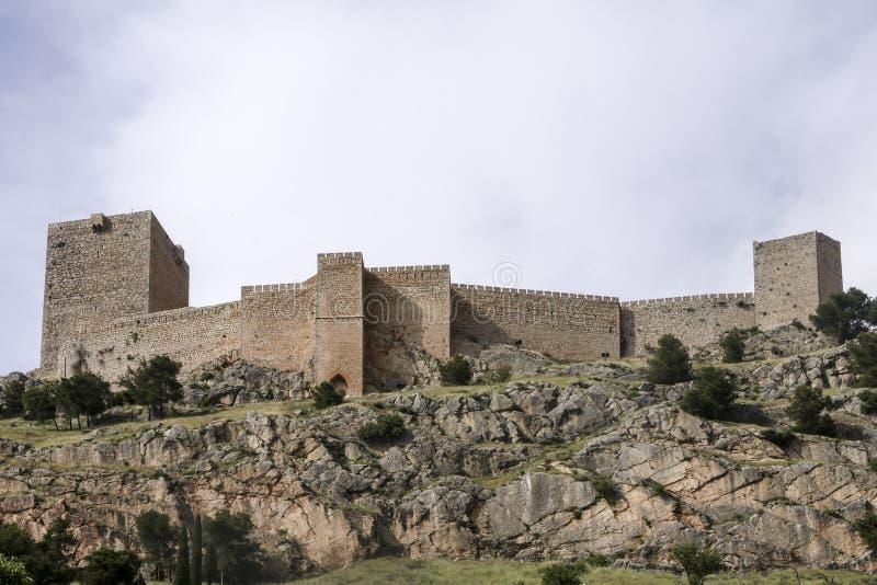 Islamiska slottar i Andalusia arkivfoto