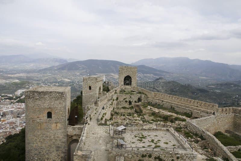 Islamiska slottar i Andalusia royaltyfri fotografi