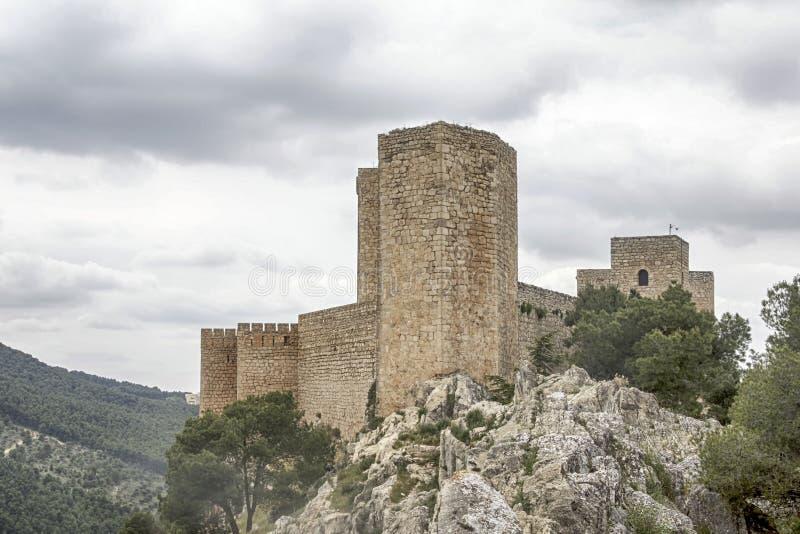 Islamiska slottar i Andalusia arkivbilder