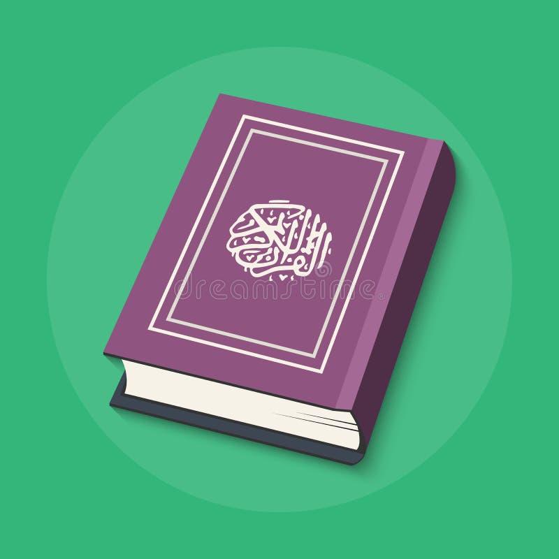 Islamitisch Boek Heilige Quran vector illustratie