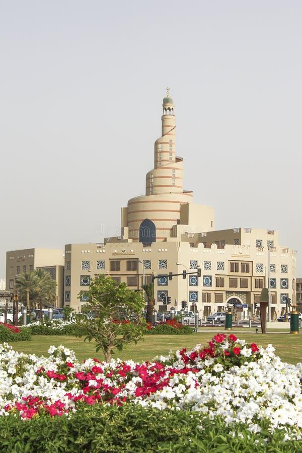 Islamitisch Cultureel Centrum Fanar in Doha royalty-vrije stock afbeeldingen