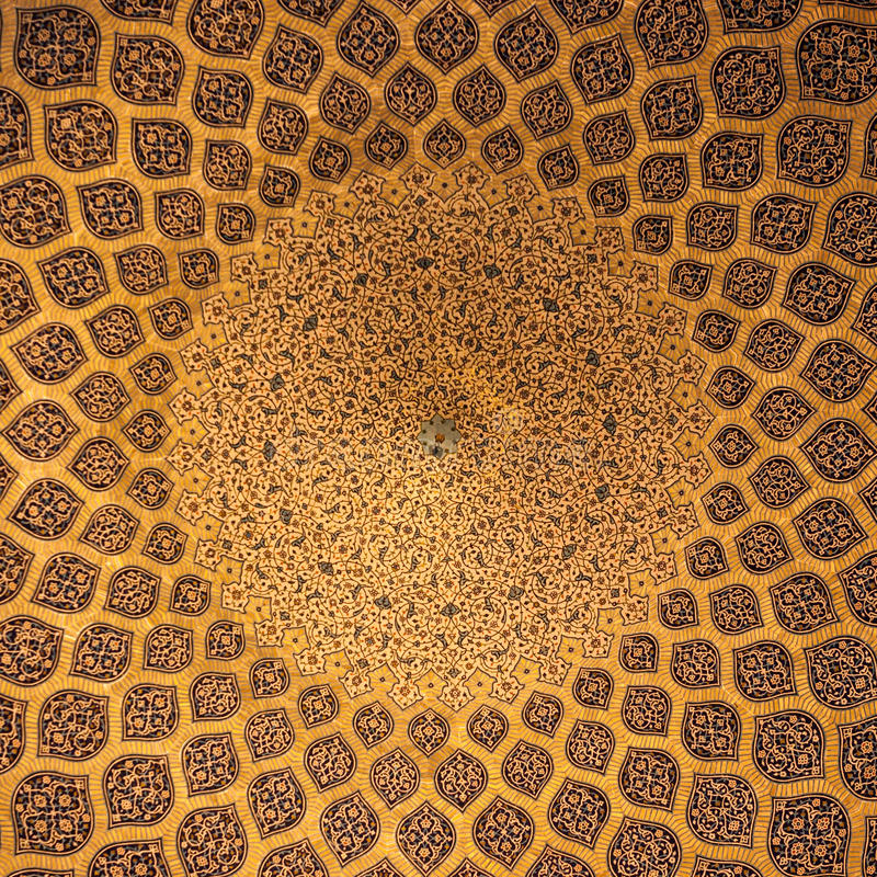 Islamitisch geometrisch patroon in Moskee stock foto's
