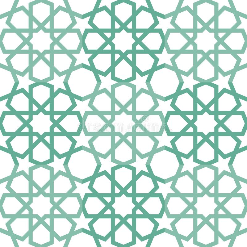 Islamitisch het Betegelen Patroon vector illustratie