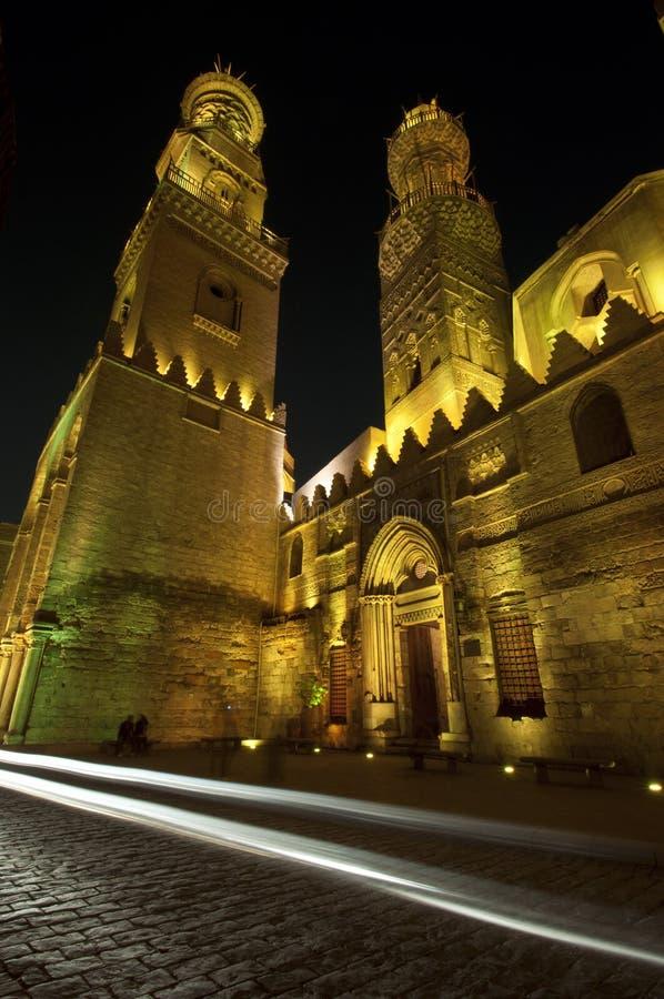 Islamitisch Kaïro bij nacht. royalty-vrije stock foto's