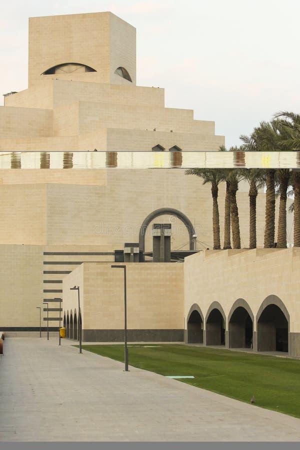Islamitisch kunstmuseum in Doha Qatar royalty-vrije stock afbeelding