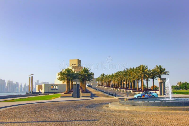 Islamitisch kunstmuseum in Doha Qatar royalty-vrije stock foto's