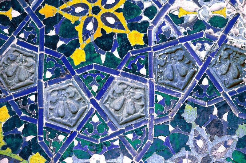 Islamitisch mozaïekpatroon stock afbeelding