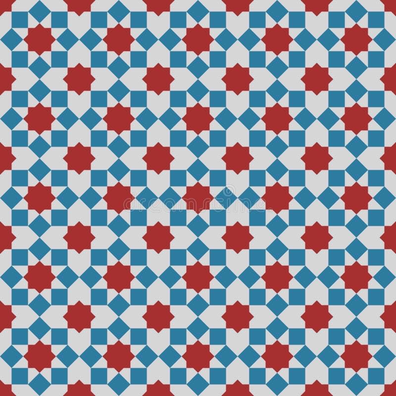Islamitisch naadloos patroon als achtergrond royalty-vrije illustratie