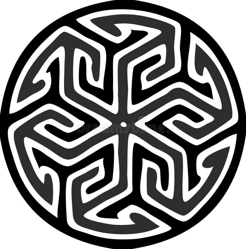 Islamitisch rond motief royalty-vrije illustratie