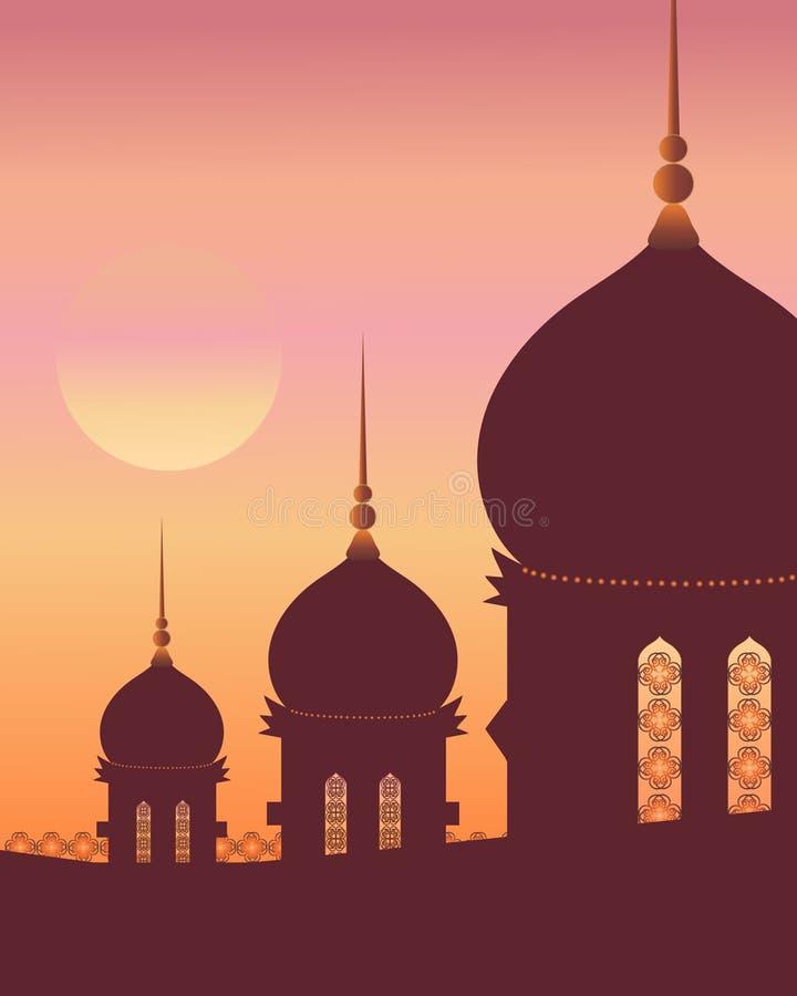 Islamitische architectuur vector illustratie