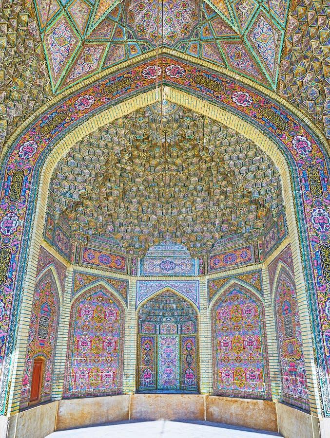 Islamitische architectuur van Shiraz, Iran royalty-vrije stock afbeeldingen