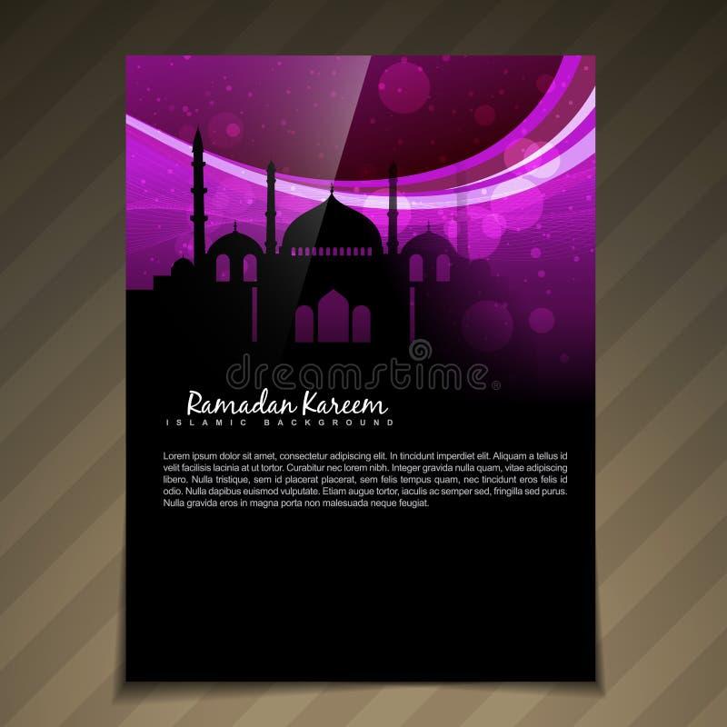 Islamitische brochure deesign royalty-vrije illustratie