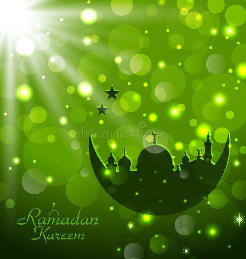 Islamitische gloedkaart voor Ramadan Kareem