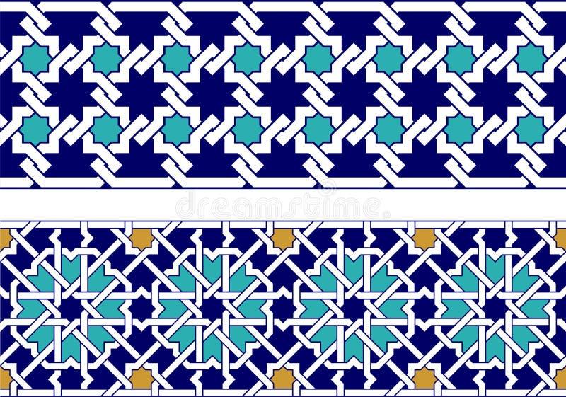 Islamitische grens stock afbeeldingen