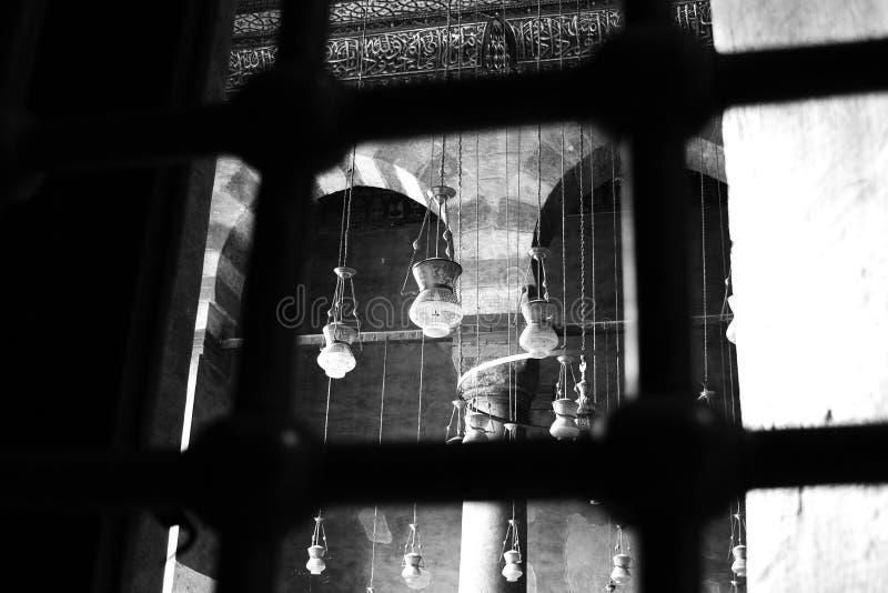 Islamitische kunst in Egypte stock afbeelding