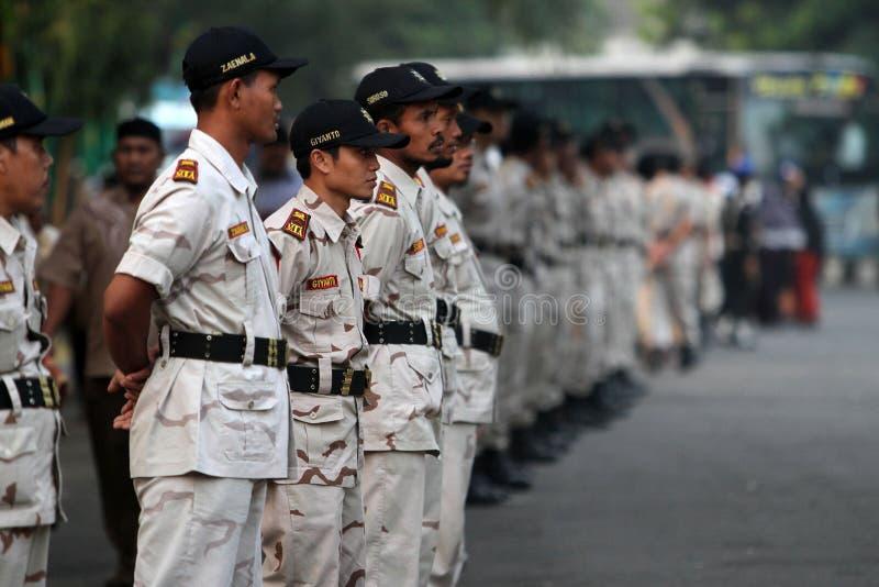 Islamitische massaorganisatie stock foto