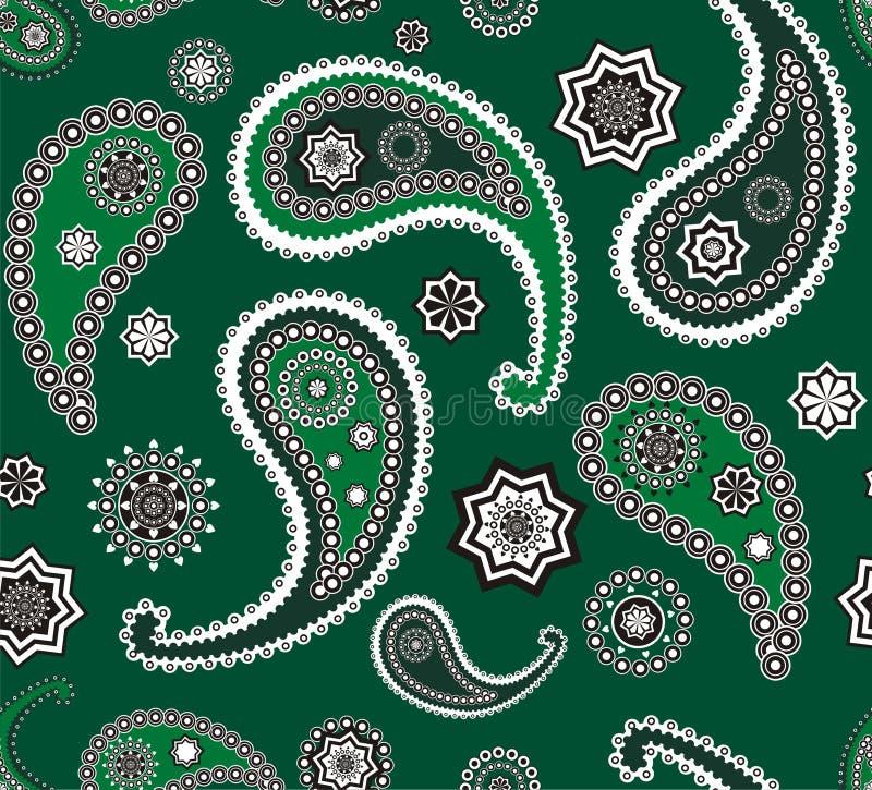 Download Islamitische Paisley Groene Patroontextuur Vector Illustratie - Afbeelding: 14260485